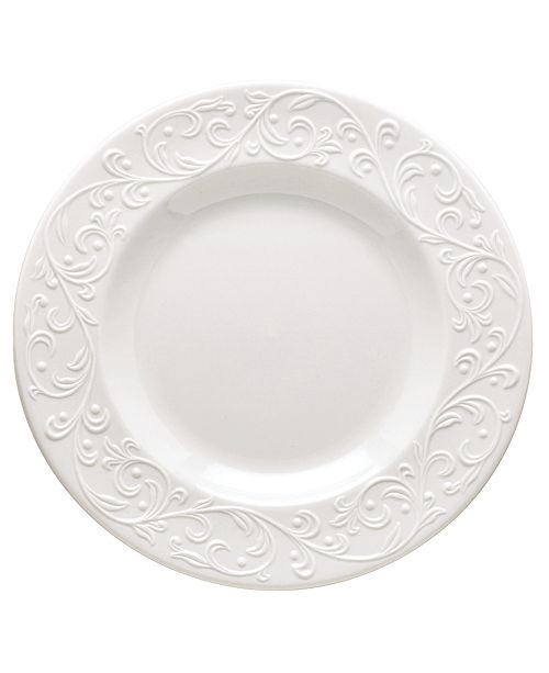 Lenox Dinnerware, Opal Innocence Carved Accent Plate