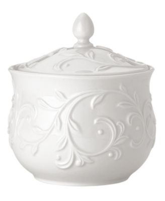 Dinnerware, Opal Innocence Carved Sugar Bowl