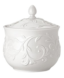 Dinnerware, Opal Innocence Carved Sugar Bowl