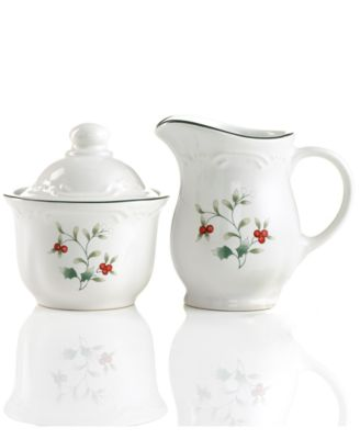 Winterberry Sugar Bowl and Creamer
