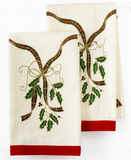 Lenox Kitchen Towels Holiday Nouveau Printed Created For