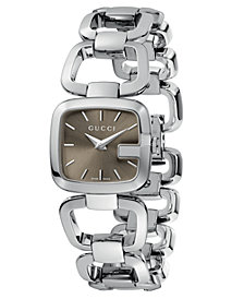 Gucci Women's Swiss G-Gucci Stainless Steel Bracelet Watch 24mm YA125507