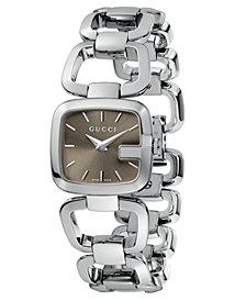 Gucci Women's Swiss G-Gucci Stainless Steel Bracelet Watch 24mm YA125507