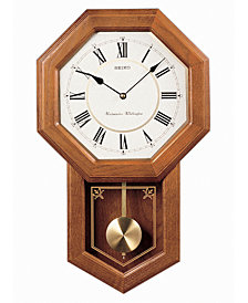 Seiko Oak Wall Clock QXH110BLH