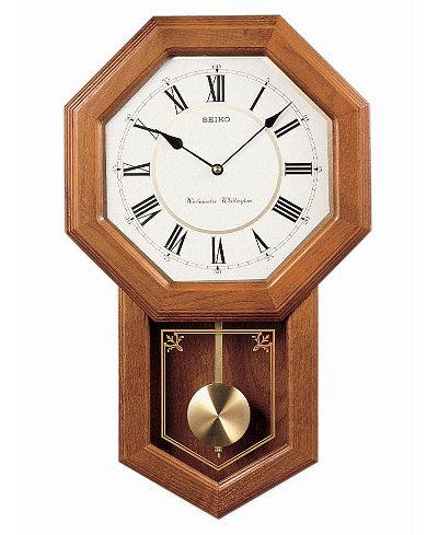 Seiko Oak Wall Clock QXH110BLH