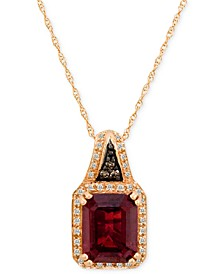 Garnet (3-5/8 ct. t.w.) and Diamond (1/8 ct. t.w.) in 14k Rose Gold