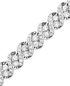 Diamond Twist Bracelet in 14k White Gold (5 ct. t.w.)