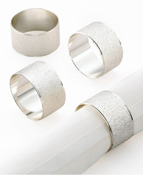 Centennial Excell Napkin Rings, Set of 4 Florentine