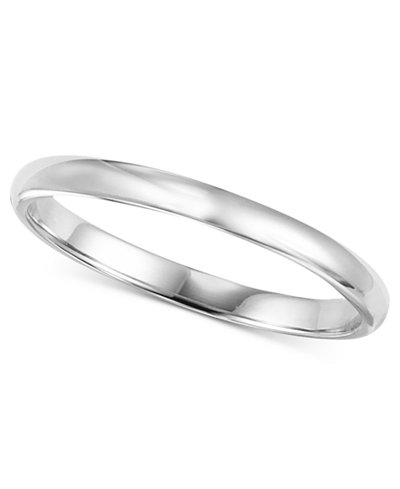 14k White Gold 2mm Wedding Band