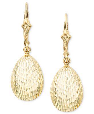 14k Gold Teardrop Earrings Earrings Jewelry & Watches Macy s