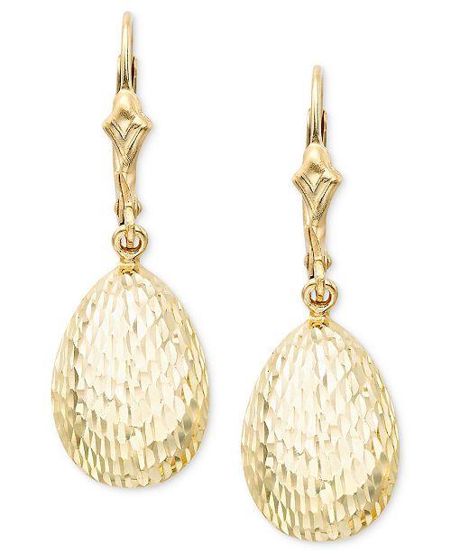 Macy's 14k Gold Teardrop Earrings