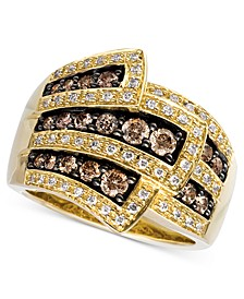 Chocolate Diamonds® Wrap Ring (1 ct. t.w.) in 14k Gold
