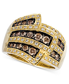 Le Vian Chocolate Diamonds® Wrap Ring (1 ct. t.w.) in 14k Gold