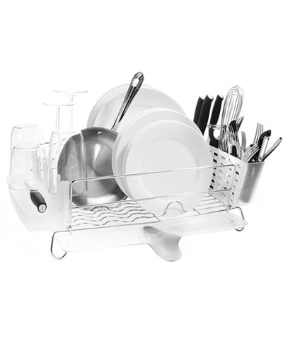 Oxo Dish Rack Folding Stainless Steel Kitchen Gadgets