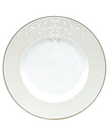 "Lenox Opal Innocence Scroll 9"" Accent Plate"