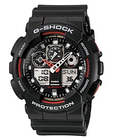 Men's Analog Digital Black Resin Strap Watch GA100-1A4