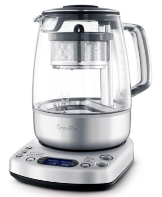 One Touch 51 Ounce Electric Tea Brew Kettle Maker Basket Automatic Home Kitchen