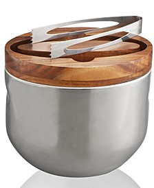 Nambe Mikko Ice Bucket with Tongs