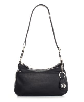 Image of Giani Bernini Nappa Leather Double Entry Hobo, Only at Macy's