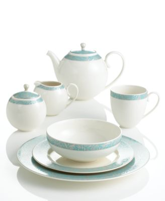 main image  sc 1 st  Macyu0027s & Denby Monsoon Dinnerware Collection by Lucille Teal Collection ...