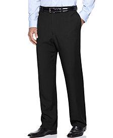 Haggar Men's E-Clo Stria Classic Fit Flat Front Hidden Expandable Dress Pants