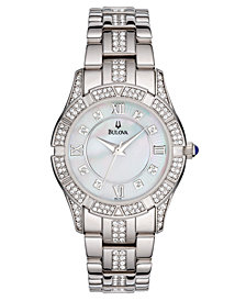 Bulova Women's Silver-Tone Stainless Steel Bracelet Watch 96L116
