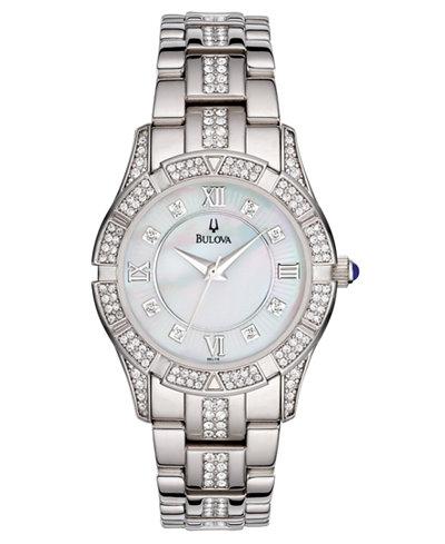 Bulova Women's Silver-Tone Stainless Steel Bracelet Watch 96L116