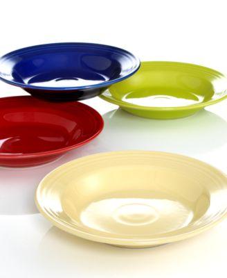 Turquoise Rim Soup Bowl