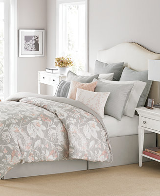 Martha Stewart Collection Shaded Garden 10 Pc Queen Comforter Set Only At M