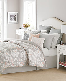CLOSEOUT! Martha Stewart Collection Shaded Garden 10-Pc. Queen Comforter Set, Created for Macy's