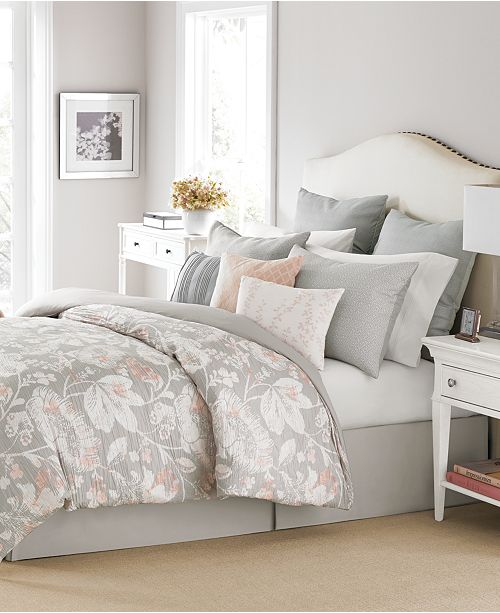 Martha Stewart Collection CLOSEOUT! Shaded Garden 10-Pc. King Comforter Set, Created for Macy's