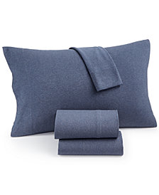 Heathered Cotton Jersey 3-Pc. Solid Twin XL Sheet Set