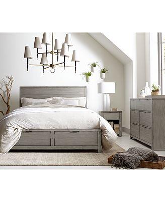 Furniture Tribeca Grey Storage Platform Bedroom Furniture Collection
