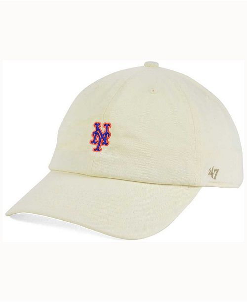 purchase cheap 28405 ee2fb  47 Brand New York Mets Base Runner Natural CLEAN UP Cap    ...