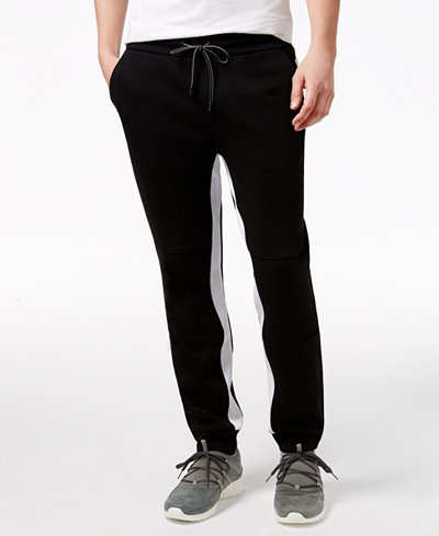 Armani Exchange Men's Detailed Colorblocked Joggers
