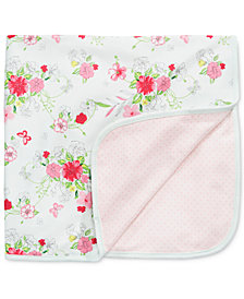 First Impressions Flowers & Dots Blanket, Baby Girls, Created for Macy's