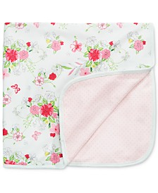 First Impressions Baby Girls Flowers & Dots Blanket, Created for Macy's