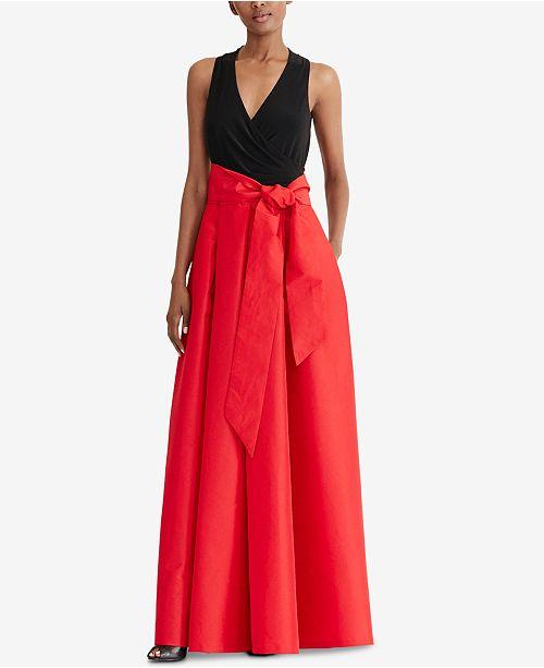 Lauren Ralph Lauren Taffeta Skirt Ball Gown Dresses Women Macys
