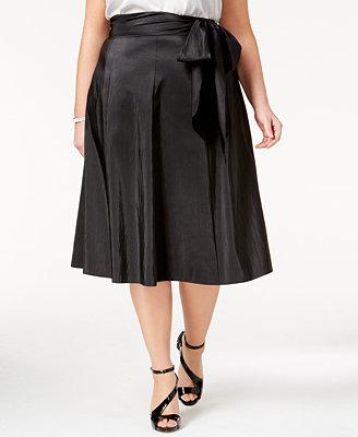 msk plus size taffeta a line skirt skirts macy s