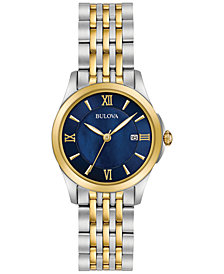 Bulova Women's Dress Two-Tone Stainless Steel Bracelet Watch 27mm 98M124