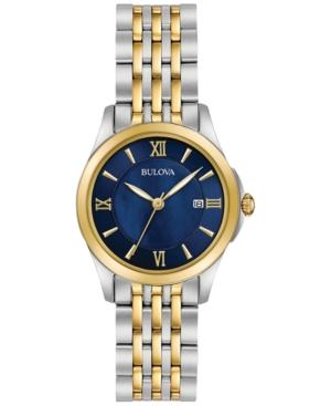 Bulova Women's Dress Two-Tone Stainless Steel Bracelet Watch