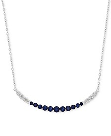 Sapphire (1-3/8 ct. t.w.) and Diamond Accent Graduated Collar Necklace in 14k White Gold