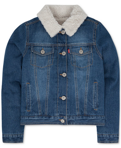 Levi's® Faux-Fur Denim Jacket, Toddler Girls