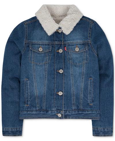 Levi's® Faux-Fur Denim Jacket, Toddler Girls - Coats & Jackets ...