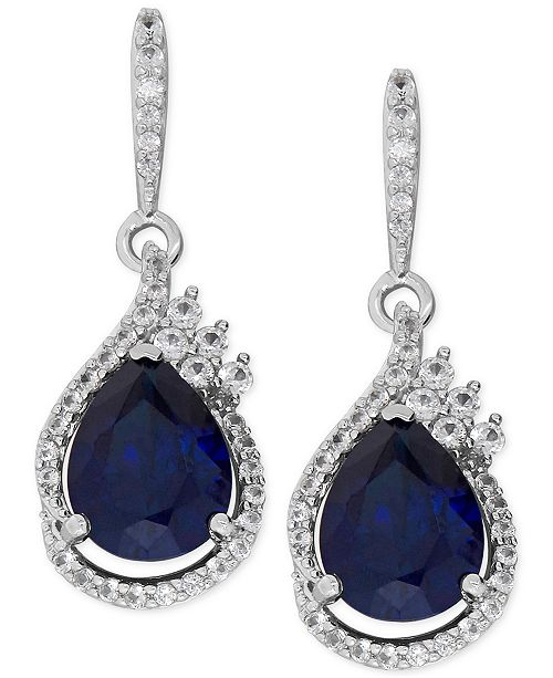 49e383186 Macy's Lab-Created Sapphire (4-5/8 ct. t.w.) and White Sapphire (1/2 ...