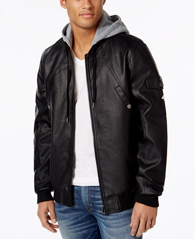 LRG Men's Mastermind Hooded Bomber Jacket - Coats & Jackets - Men ...