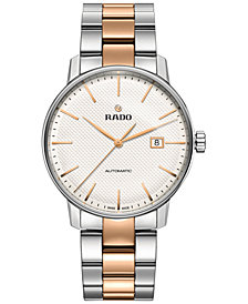 Rado Unisex Swiss Automatic Coupole Classic Two-Tone Stainless Steel Bracelet Watch 41mm R22876022