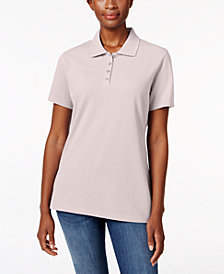 Karen Scott Short-Sleeve Polo Top In Regular & Petite Sizes, Created  for Macy's