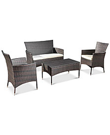 Aldin Multi Brown 4-Pc. Outdoor Set, Quick Ship