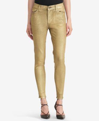 Beige stretch skinny jeans